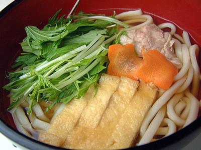 京水菜のハリハリ風鍋うどん